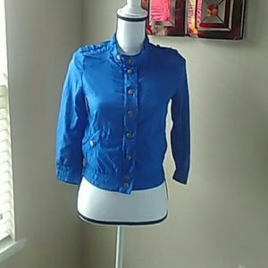 Divided by H&M Royal Blue Track Jacket Size 2